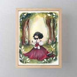 Snow White Illustration Framed Mini Art Print