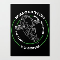 Boba's Shipping & Logistics Canvas Print