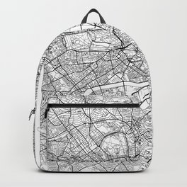London Map White Backpack