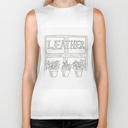 Leather Biker Tank