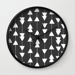 Arrowhead - Black Wall Clock
