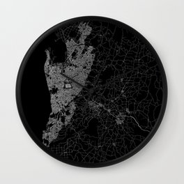 Adelaide map australia Wall Clock