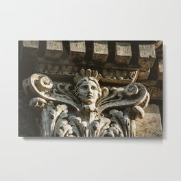 Uptown Chicago Architectural Detail Stone Face  Metal Print