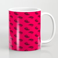 meat Mugs featuring MEAT pattern by Dr.Söd