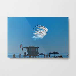 Thunderbirds Over Tower 15 Metal Print