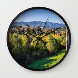River Bank Trees Wall Clock