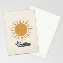 Sunburst Hand Stationery Cards