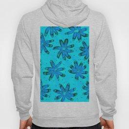 Turquoise Daisies Hoody