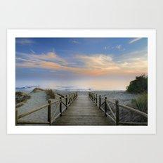 The path..., the beach....