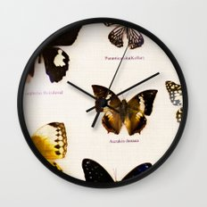 Forever Beautiful Butterfly Wall Clock