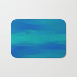 Teal Blue Ocean Currents Bath Mat