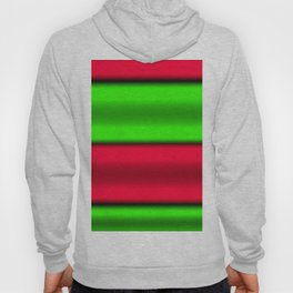 Green & Red Horizontal Stripes Hoody