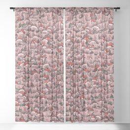 Christmas pigs Sheer Curtain