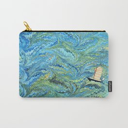 Small Boat on The High Seas Carry-All Pouch