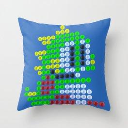 Bubble Bobble bubbles Throw Pillow