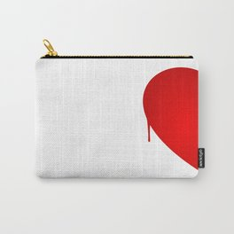 Half Heart Woman Carry-All Pouch