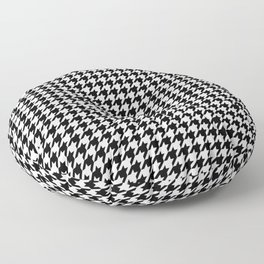 Monochrome Black & White Houndstooth Floor Pillow