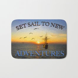 New adventures painting - by Brian Vegas Bath Mat