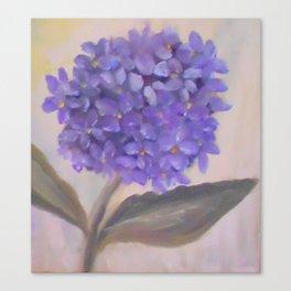 Purple Hydrangea From Original Oil Painting Canvas Print