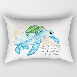 Snuggled into my heart Sea Turtle Rectangular Pillow