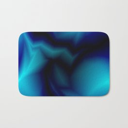 Mystical cosmic sparkling lightning of light blue zigzags and yellow spots. Bath Mat
