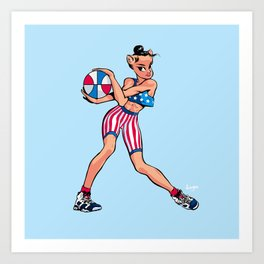 CoolNoodle USA Olympic Art Print