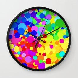Jittery Summer color dots  Wall Clock