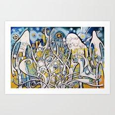 Magnetic Galactic Art Print