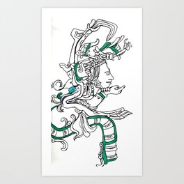 Maya Vision Serpent II Art Print