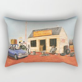 The Outback Petrol Station Rectangular Pillow