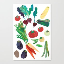 Love Your Veg Canvas Print