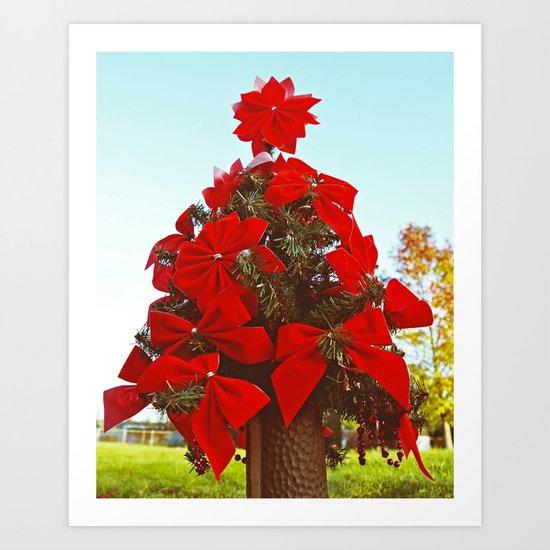 Miniature Christmas tree Art Print