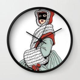 Masked Girl Wall Clock