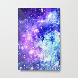 Chaotic Space : Galaxy Bright Purple & Blue Metal Print
