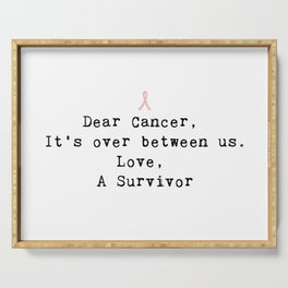 Dear Cancer (Black Type) Serving Tray