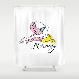morning time Shower Curtain