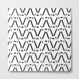 "Patterned - The Didot ""j"" Project Metal Print"