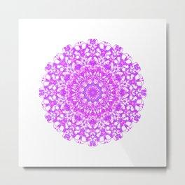 Mandala 12 / 5 eden spirit pink Metal Print