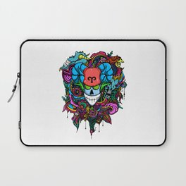 Aries Skull Zodiac Sign For March and April Birth Day Gift Laptop Sleeve