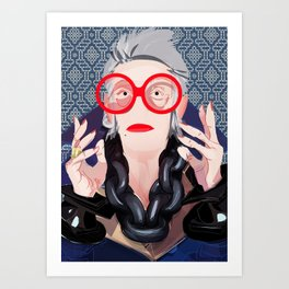 Iris: Blue Art Print