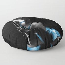 Beautiful Exotic Sexy Dancer Blue Floor Pillow