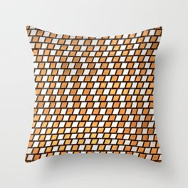 Irregular Chequers - Steel and Copper - Industrial Chess Board Pattern Throw Pillow