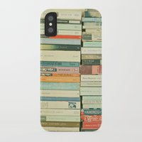 books iPhone & iPod Cases featuring Bookworm by Cassia Beck