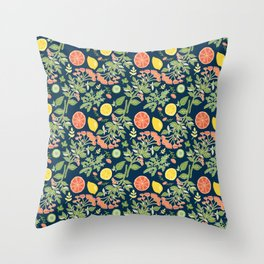 Gin and Tonic Pattern Throw Pillow