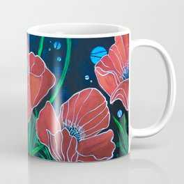 Stylized Red Poppies Coffee Mug