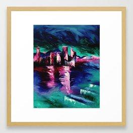 """Victoria Harbor"" Painting Framed Art Print"