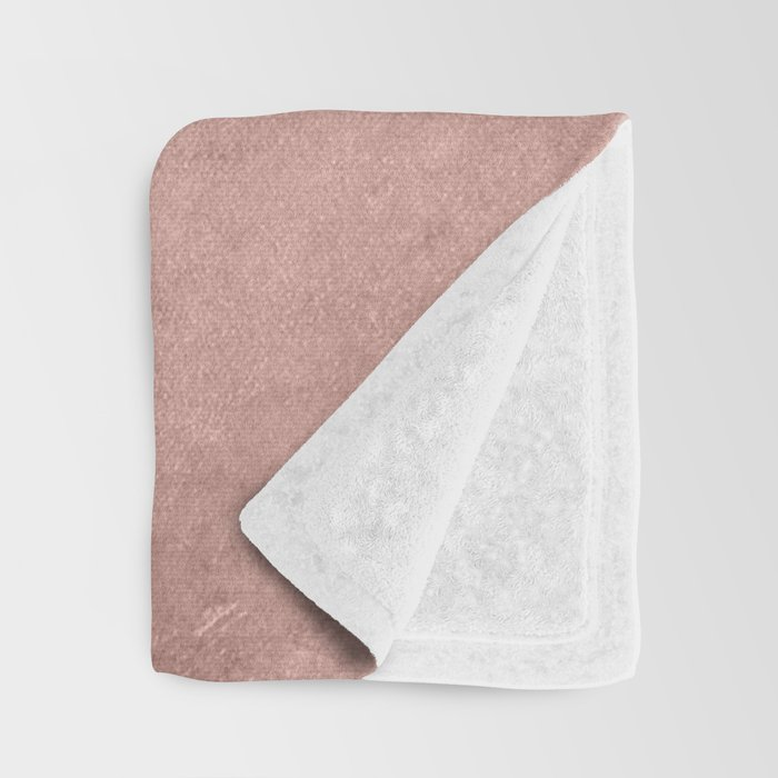 Blush Rose Gold Ombre Throw Blanket