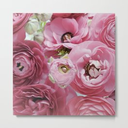 Bloom Sweetly - Rose Pink Metal Print