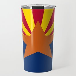 flag of Arizona, america,usa,Grand Canyon,Arizonan, desert,The Copper State,Phoenix,Tucson,Mesa Travel Mug
