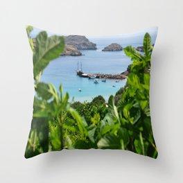 Sea View II Throw Pillow